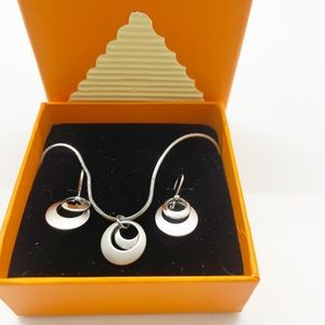Lia Sophia set necklace and earrings. New in box.